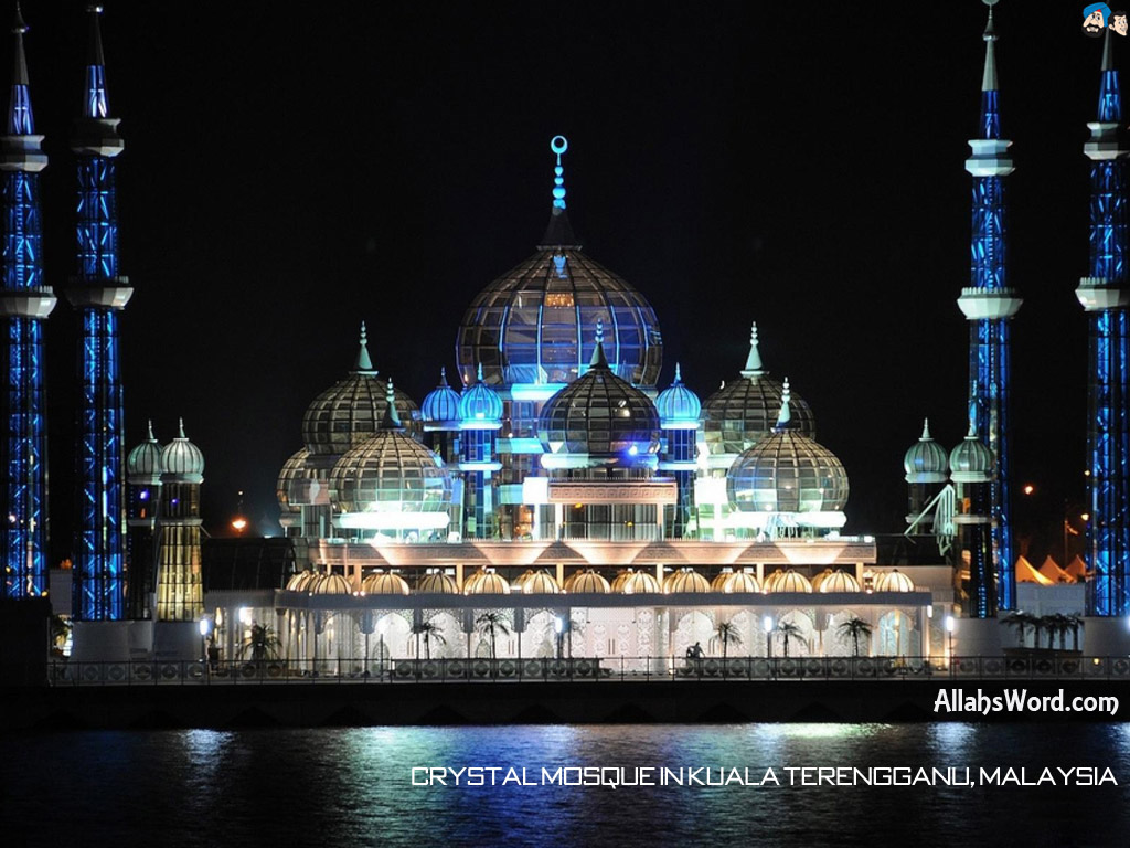 Crystal Mosque Malaysia HD Wallpaper