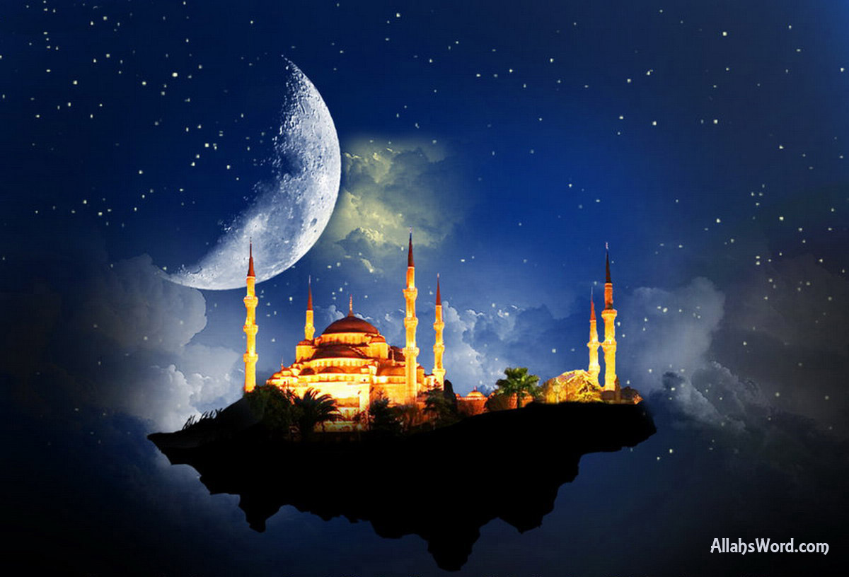 Floating Mosque Space HD Wallpaper