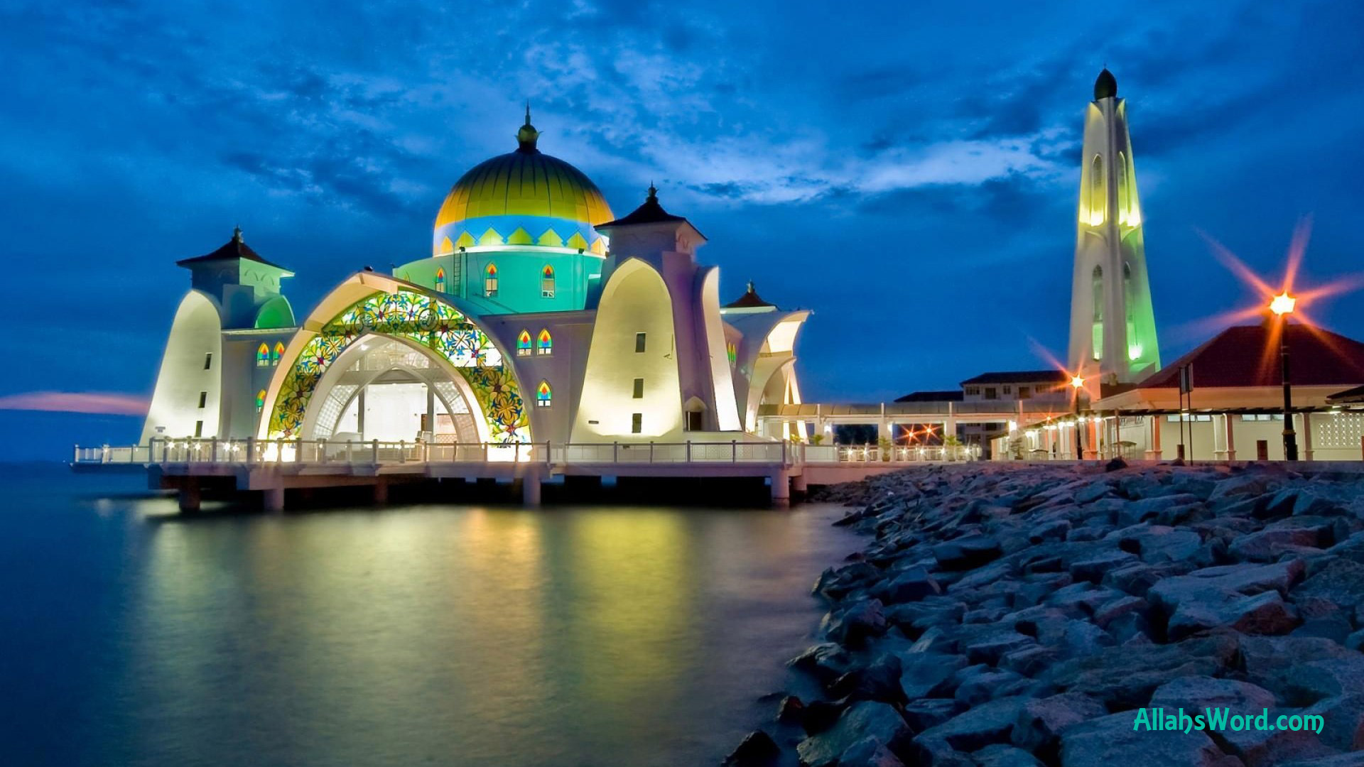 Mosque On Water HD Wallpaper
