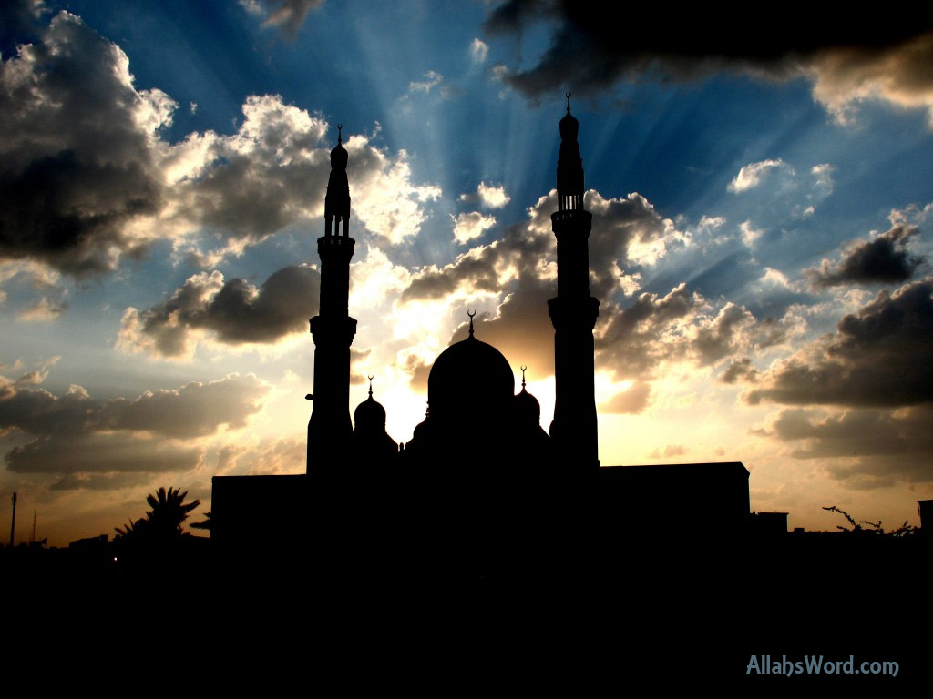 Mosque Silhouette HD Wallpaper