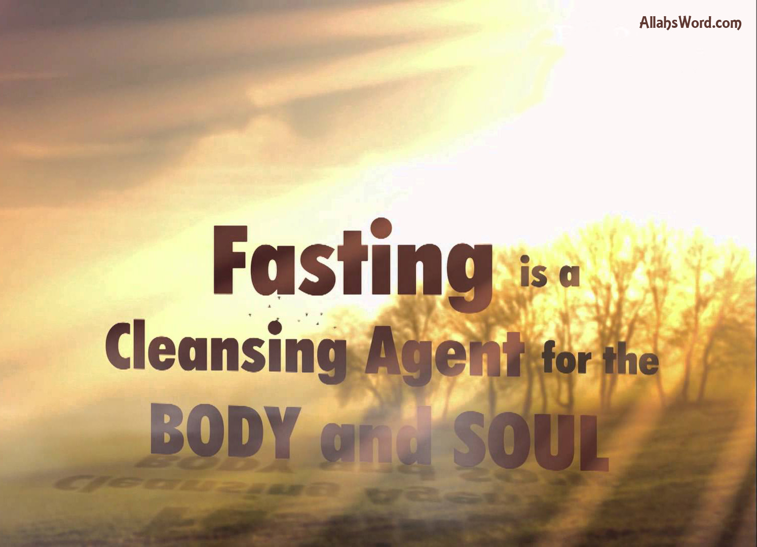 Fasting Islamic Quotes Wallpaper
